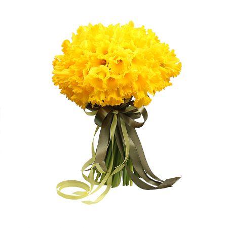 Bouquet 101 yellow daffodil