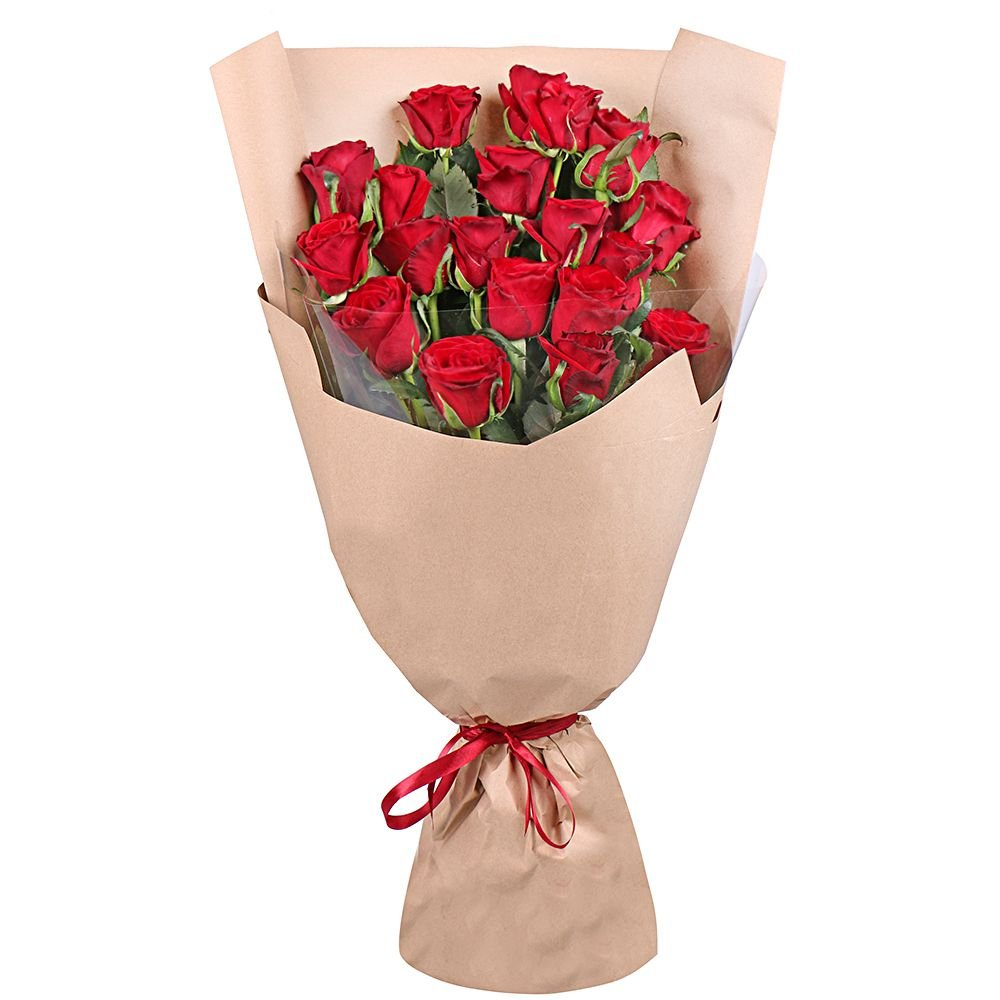 Bouquet 19 red roses 70 cm