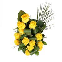 Bouquet Golden music with vase