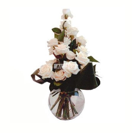 Bouquet White rose Grand Prix