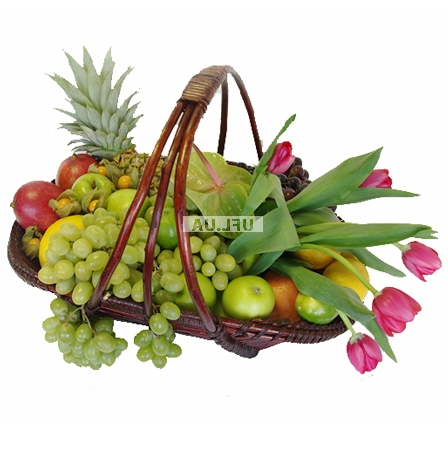 Bouquet Easter mini basket