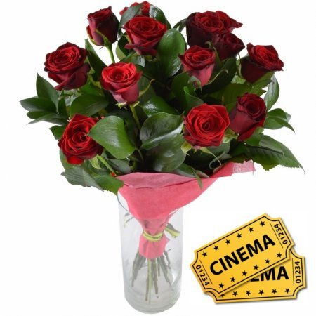Bouquet Ait of love +ticket to cinema