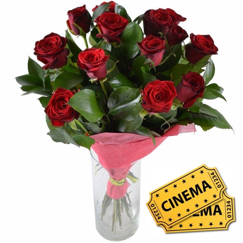 Bouquet Ait of love +ticket to cinema