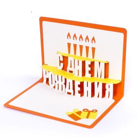Product Happy birthday Greeting Card (cake, orange)