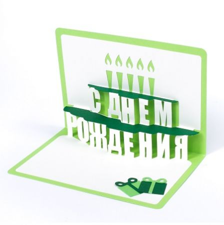 Product Happy birthday Greeting Card (cake, green)