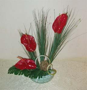 Bouquet Composition made of anthurium