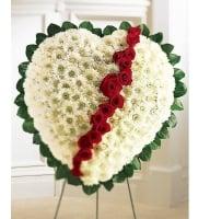 Bouquet Ritual arrangement of flowers in a heart shape