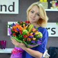 Bouquet Florist Masha designed exclusive bouquet