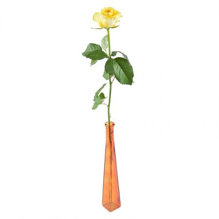 Bouquet Single yellow rose