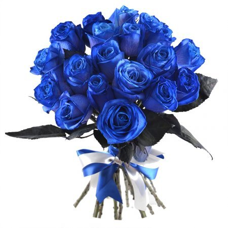 Bouquet Blue roses Mystic