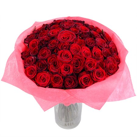 Bouquet 51 red roses 50cm
