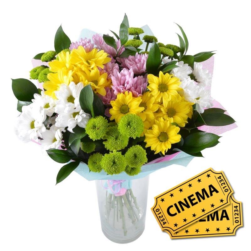 Bouquet A wonderful evening + ticket to cinema