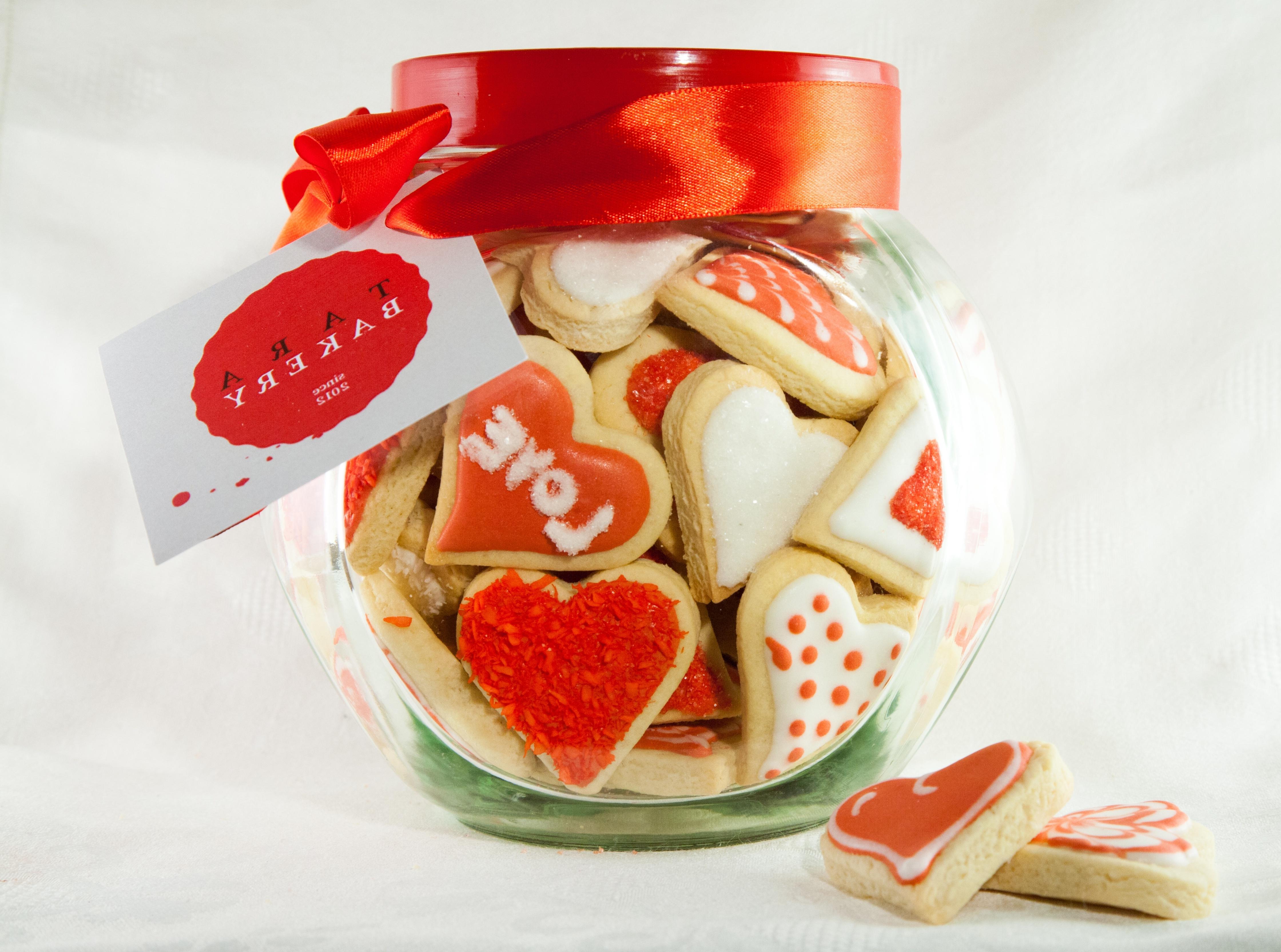 Bouquet Hearts cookies