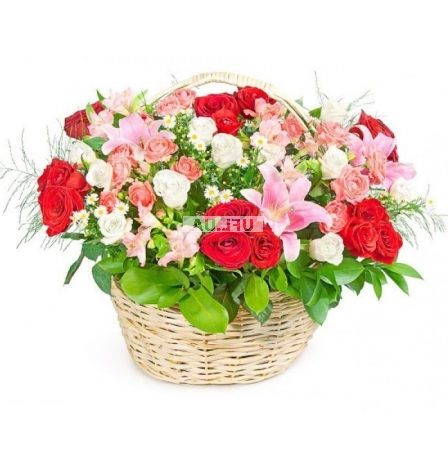 Bouquet Basket Flower mix
