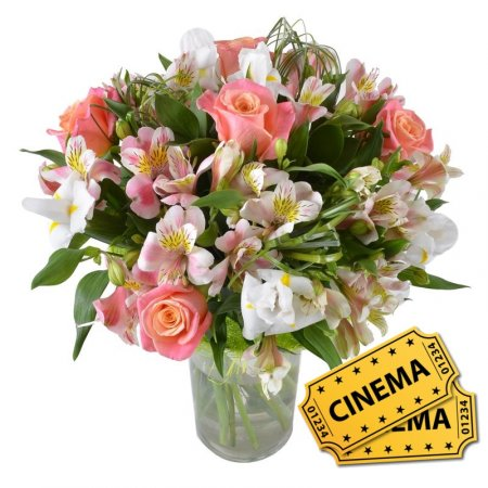 Bouquet Сute girl+ 2 ticket to cinema