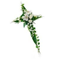 Bouquet Funeral Cross