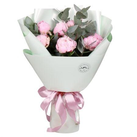 Bouquet 7 pink peonies