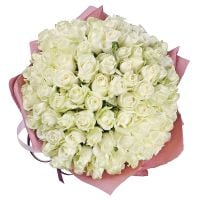 Bouquet 101 white roses