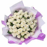 Bouquet 51 white roses