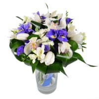 Bouquet White-and_blue