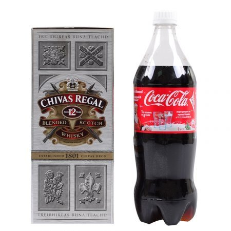 Product Whisky Chivas Regal (12 y.o.) 0.75 L + Coca-Cola