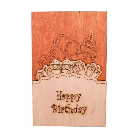 Product Wooden card «Happy Birthday»