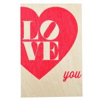Product Wooden card LOVE YOU