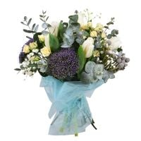 Buy a creamy bouquet in European style with delivery
