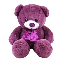 To buy a soft toy ''Purple teddy' as a gift for a girlfriend