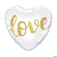 Love Glitter Heart Balloon