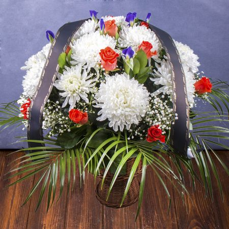 Buy funeral basket in internet-shop with delivery