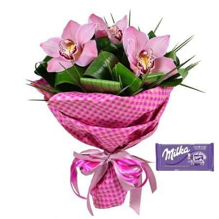Bouquet Hit of spring + Chocolate Milka