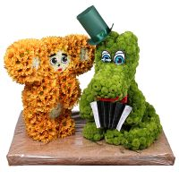 Product Игрушка из цветов «Чебурашка и крокодил Гена»