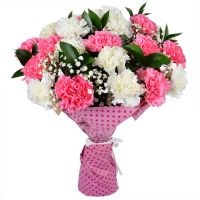 Bouquet with carnations with delivery