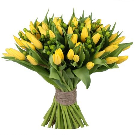 Bouquet Yellow tulips 51