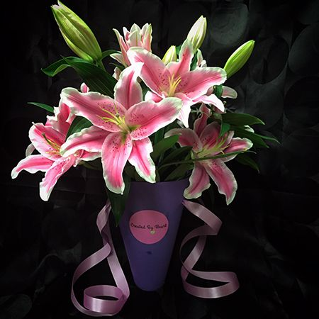 Bouquet Flower arrangement «Lilies»