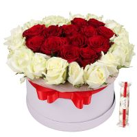 Bouquet Композиция «Рубиновый поцелуй» + Raffaello (4 шт)