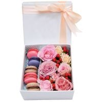 "Product Box with macarons ""Nice compliment\"""