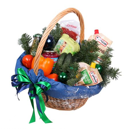 Order basket with Christmas foods | Delivery