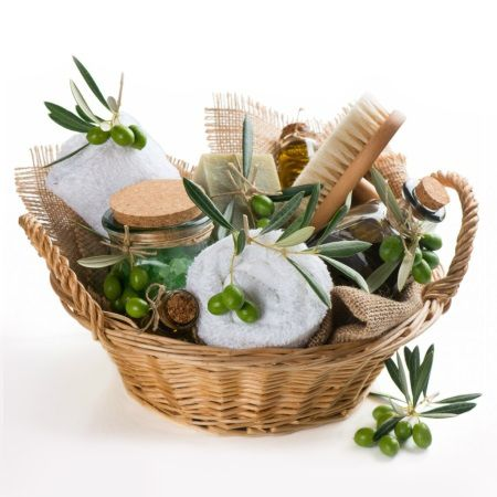 Product Basket with cosmetics «Olive»