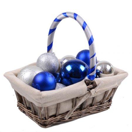 Product Basket with Christmas balls