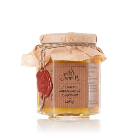 Product Lemon and orange confiture with ginger 200 ml
