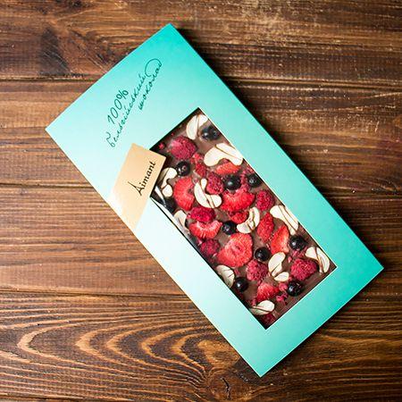 Product Milk belgian chocolate «Berry happiness»