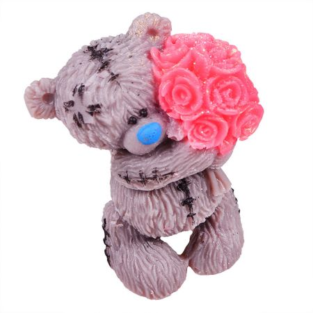 Product Teddy soap with bouquet