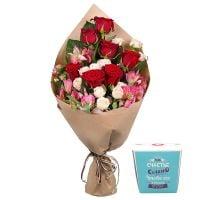 Bouquet Нежная мелодия + Печенье с предсказаниями