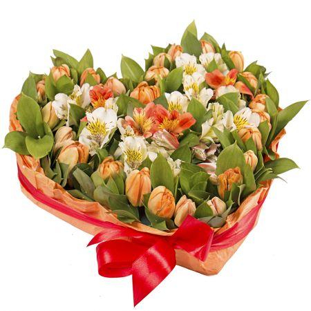 Bouquet Cosy heart