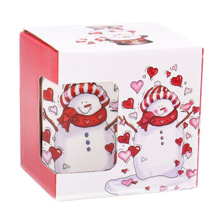 Product Christmas cup with a snowman