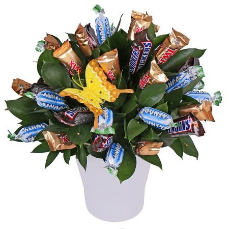 Order a lovely Bouquet of Sweets with international flower delivery