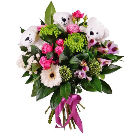 Bouquet Teddy