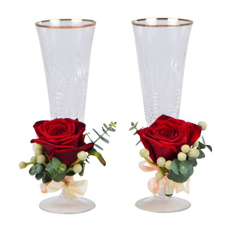 Product Flower decoration of glasses №5